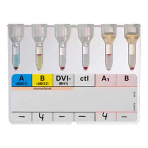 001234 ID ДиаКлон ABO/D + перекрестная реакция, моноклональные Ат (ID DiaClon ABO/D + reverse grouping (monoclonal antibodies), 48 карт /DiaMed GmbH, Switzerland/ДиаМед ГмбХ, Швейцария