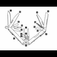 Мультитул Leatherman Rebar сталь 831557 с чехлом - 2
