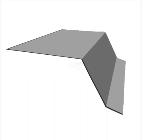 Карнизная планка 88х88х2000 мм RAL 7004