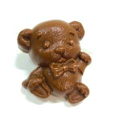 Пластиковая форма для шоколада дет. МИШКА ПЛЮШЕВЫЙ С БАНТИКОМ (80х80мм)