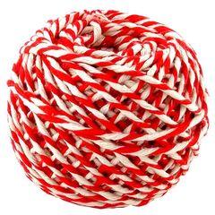 Шнур хлопковый Бело-красный, 2 нити, 50 м, 1 шт.