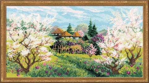 Набор для вышивания крестом «Яблоневый сад» (1275)