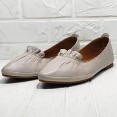 Кожаные балетки туфли женские на низком ходу Wollen G036-1-1545-297 Vision.