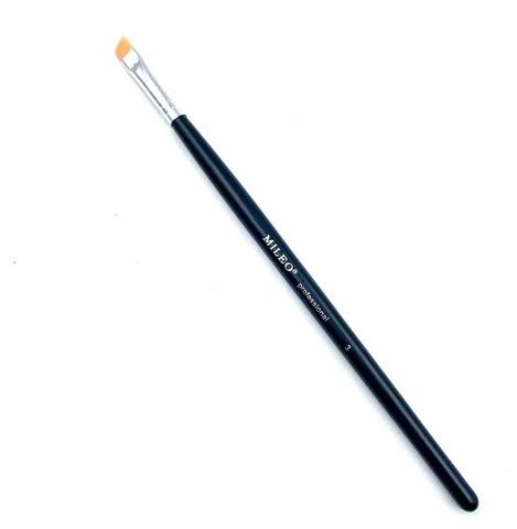 Mileo черная ручка, Кисть для бровей СКОШЕННАЯ №3