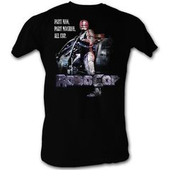 T-Shirt - Robocop Movie All Cop Adult Black