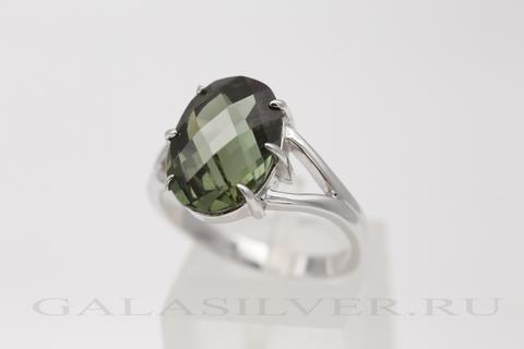 Кольцо с турмалином из серебра 925