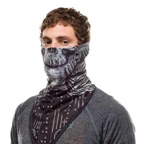Бандана-шарф флисовая Buff Bandana Polar N-Tribe Black фото 2