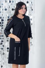 Ельга. Нарядне плаття великих розмірів. Чорний