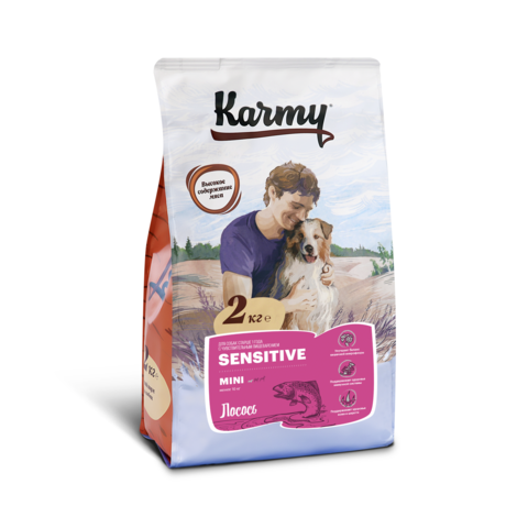 Karmy Sensitive Mini Лосось, 2кг.