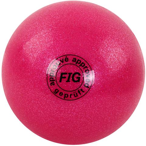 Мяч для худ. гимнастики (19 см, 400 гр)  розовый металлик GC 02