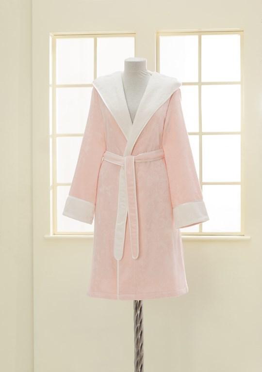 Халаты женские NEHİR - НЕГИР розовый бамбуковый женский халат Soft Cotton (Турция) NEHIR_L_РОЗОВЫЙ.jpg