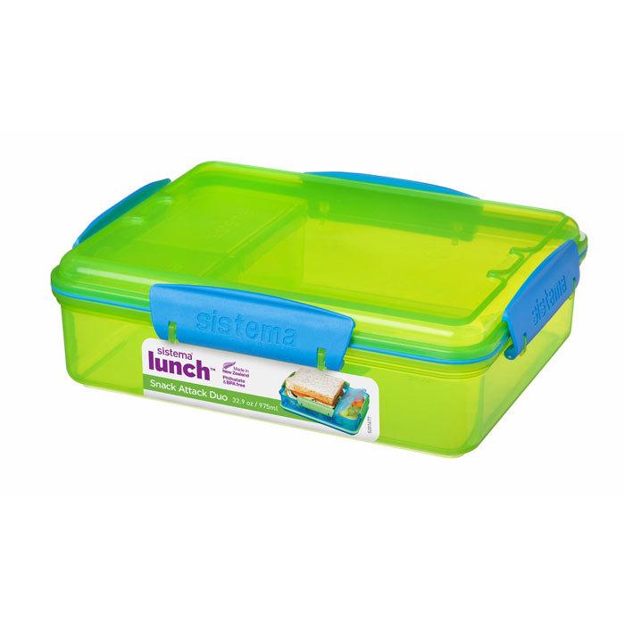 "Ланч-бокс Sistema ""Lunch"" с разделителями, 975 мл, цвет Зеленый"