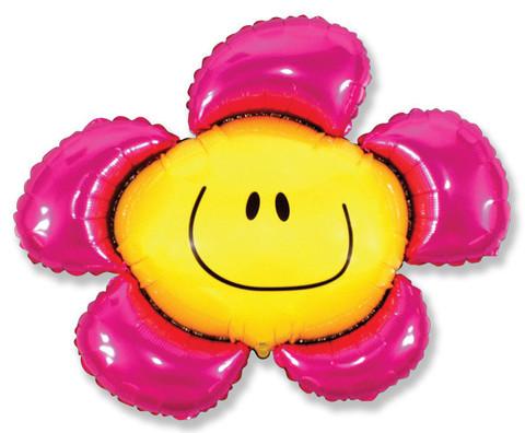 Фольгированный шар Цветочек фуше