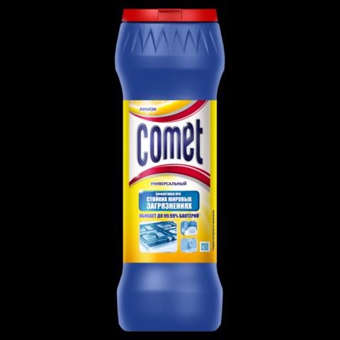 Средство чистящее универсал.Comet 475г Лимон дезинфиц.порошок/банка