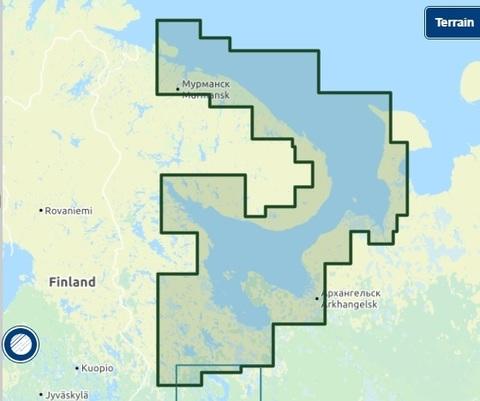 Карта: Белое море, Баренцево южная часть 5G874S
