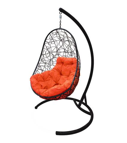 Кресло подвесное Parma black/orange