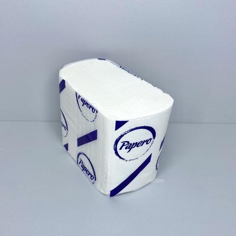 Туалетная бумага листовая Papero Z сложения 2сл. 225х110 мм (200 шт.) белая (TN003)