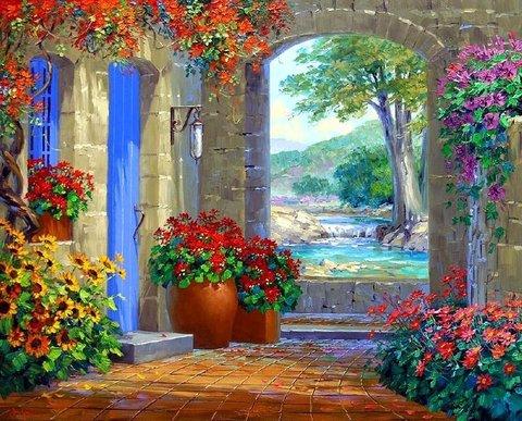 Картина раскраска по номерам 40x50 Дивный сад (ТС3083)