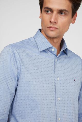 Мужская синяя рубашка CL OXFORD DOBBY REG Tommy Hilfiger