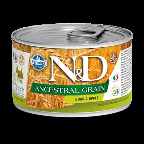 Farmina Dog Ancestral Grain Boar & Apple Mini Консервы для собак мелких пород Низкозерновые с Кабаном и яблоком (Банка)