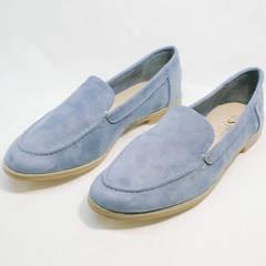 Туфли лоферы женские без каблуков Seastar T359P Blue.