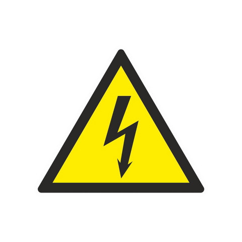 W08 Опасность поражения электрическим током (плёнка ПВХ, 200х200)