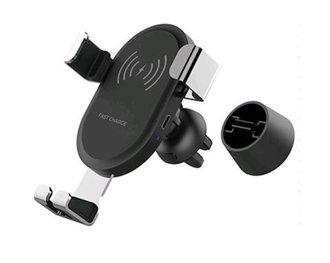 BQ001 / Автомобильный держатель с QI зарядкой | черный