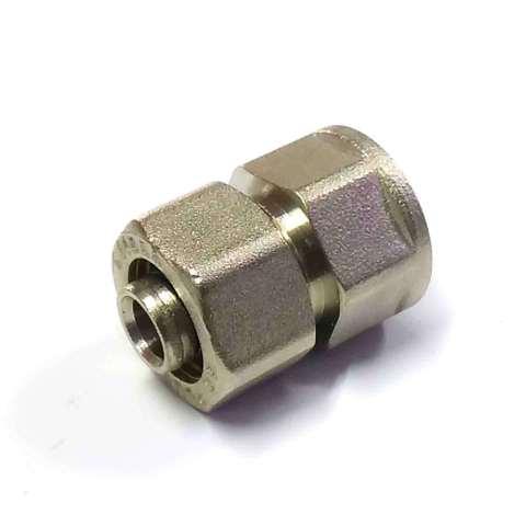 Муфта обжимная для металлопластиковых труб 16*1/2 внутренняя резьба SD Plus