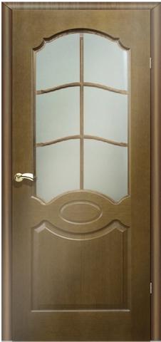 Дверь Мурано (орех, остекленная шпонированная), фабрика Маркеев