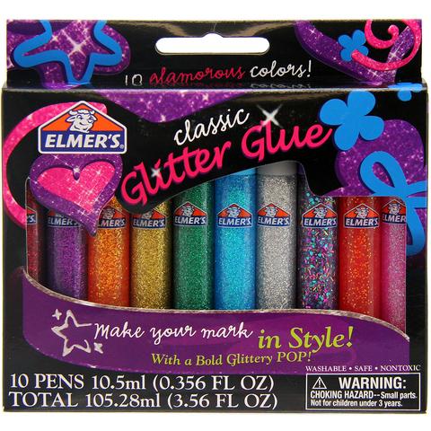 Набор для изготовления слаймов Elmers Glitter Glue блестящий 10 цветов