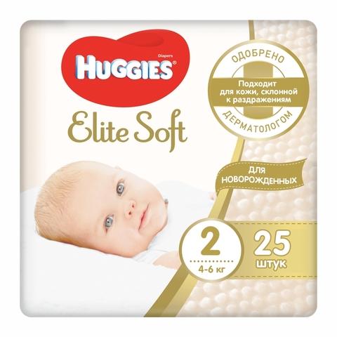Подгузники HUGGIES Elite Soft Conve 25 шт №2 РОССИЯ