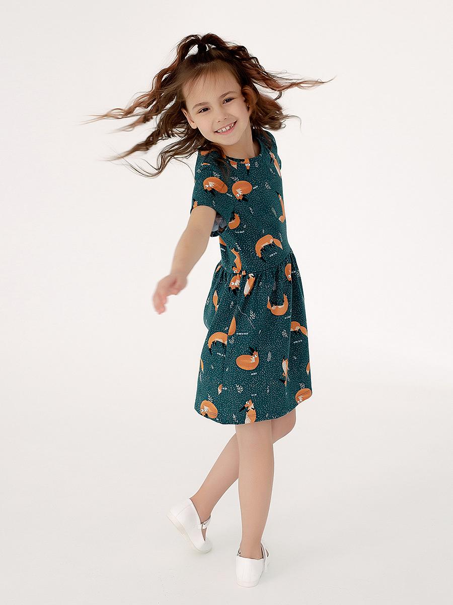 Платье Лето дикие лисы