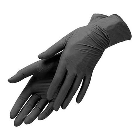 Нитриловые перчатки  черные  (50пар)