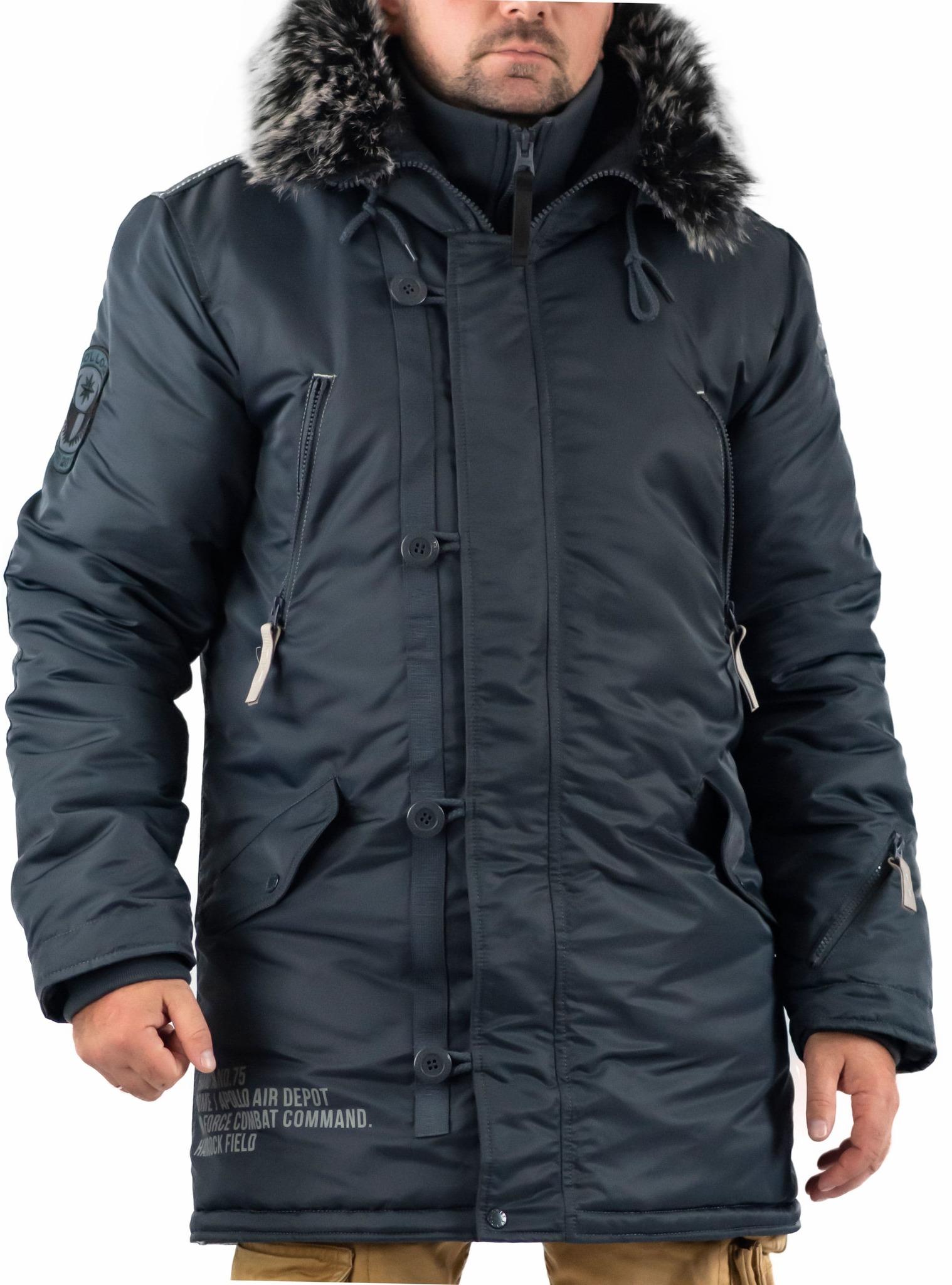 Куртка мужская зимняя Apolloget Arctic (стальной синий- steel blue)