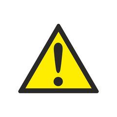 W09 Внимание. Опасность (прочие опасности) (плёнка ПВХ, 200х200)