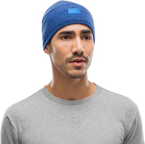 Шерстяная шапка с флисом Buff Hat Wool Fleece Olympian Blue фото 2