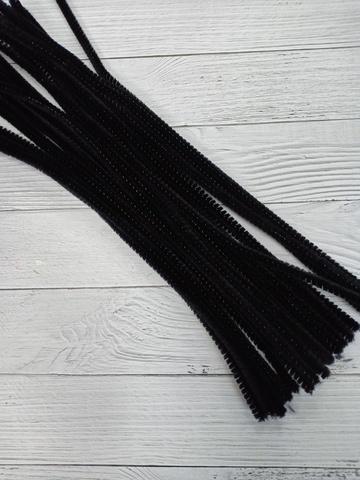 Проволока синельная, цвет черный, размер 30 см, 30 шт