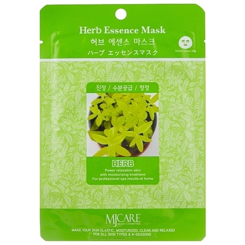 MIJIN Essence Маска тканевая экстракты трав Herb Essence Mask