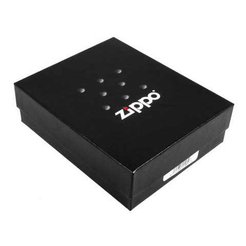 Зажигалка Zippo Московский кремль, латунь/сталь с покрытием Black Matte, чёрная, 36x12x56 мм