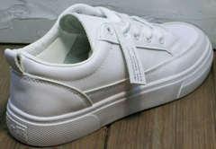 Низкие кеды кроссовки женские белые El Passo 820 All White.
