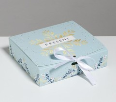 Коробка складная «Новогодняя», 20 × 18 × 5 см, 1 шт.