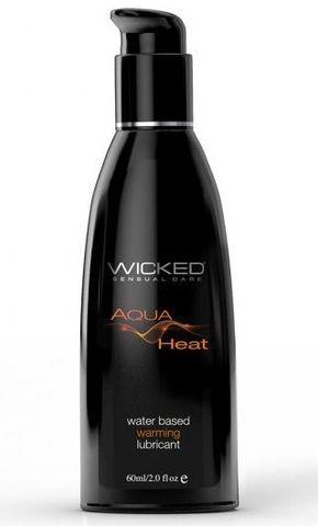 Согревающий лубрикант на водной основе Wicked AQUA HEAT - 60 мл.