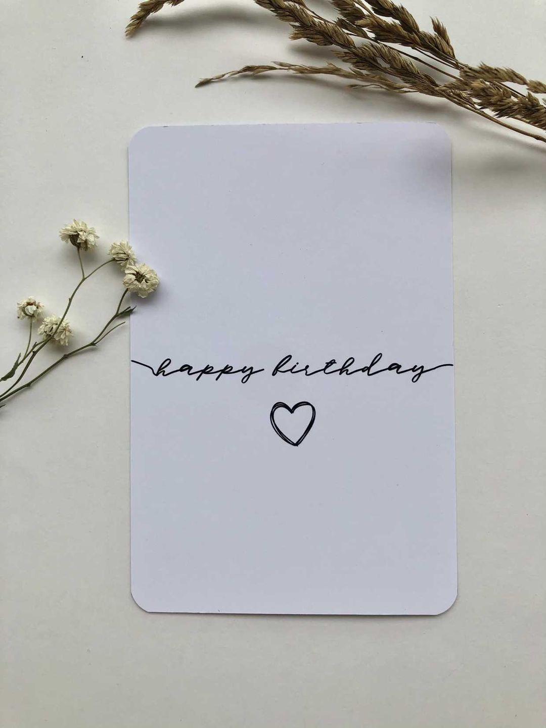 Мини-открытка 6*9 'happy birthday'
