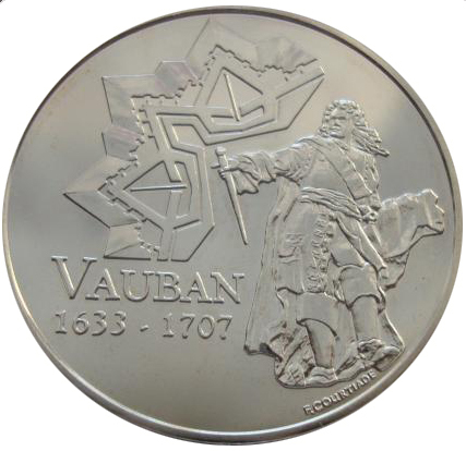 1/4 евро 2007 год. Франция. Себастьян Ле Претра де Вобан. Серебро