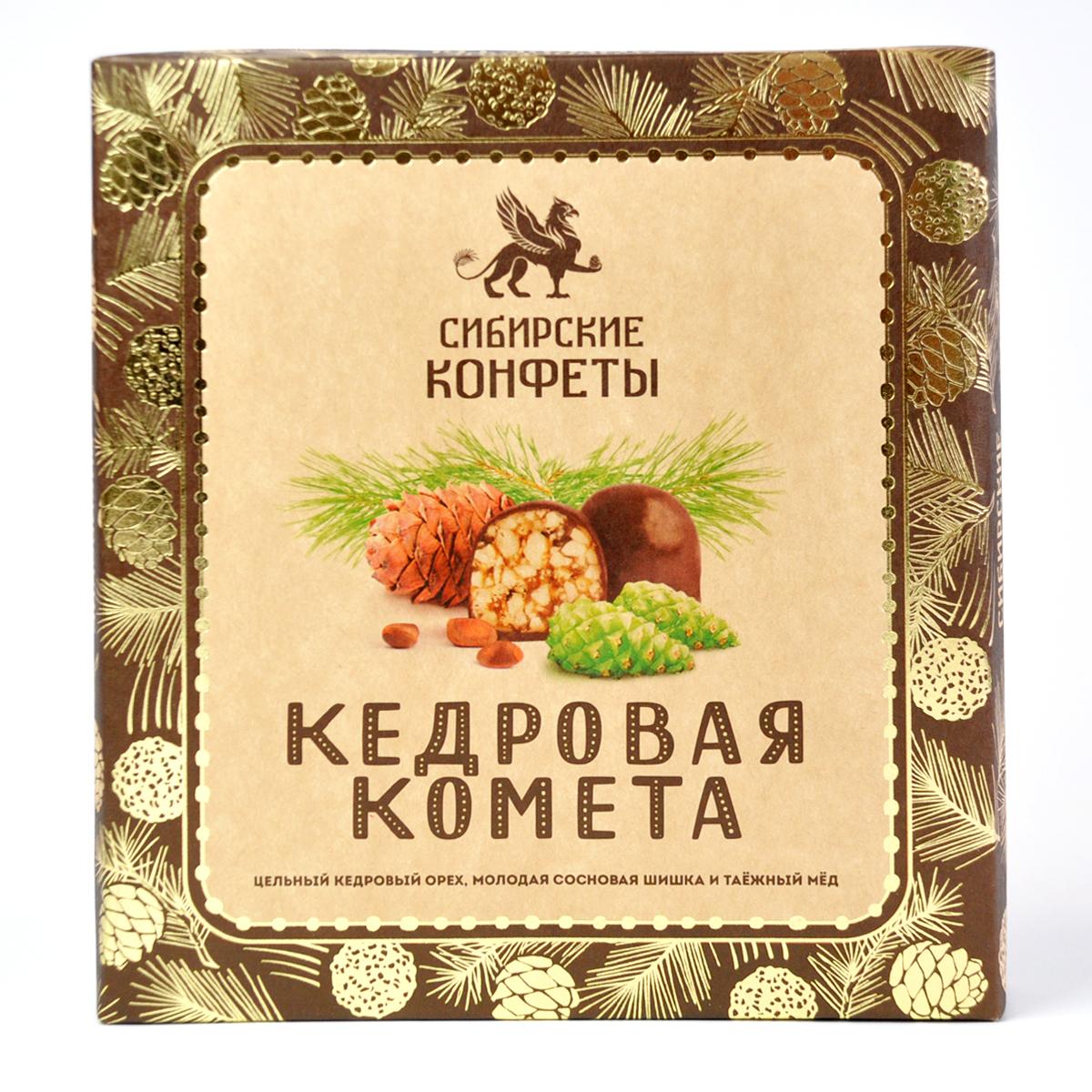 Конфеты Кедровая комета с сосновой шишкой Сибирский Кедр 120 гр