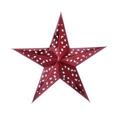 Звезда бумажная 60 см голографическая красная