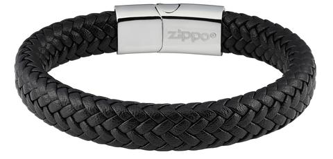 Мужской кожаный браслет Zippo 2006229