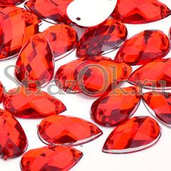 Купить оптом со скидкой стразы Drope Light Siam красные дешево