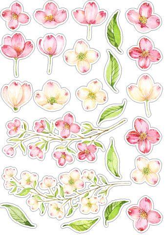 Печать на вафельной бумаге, Набор цветы 4