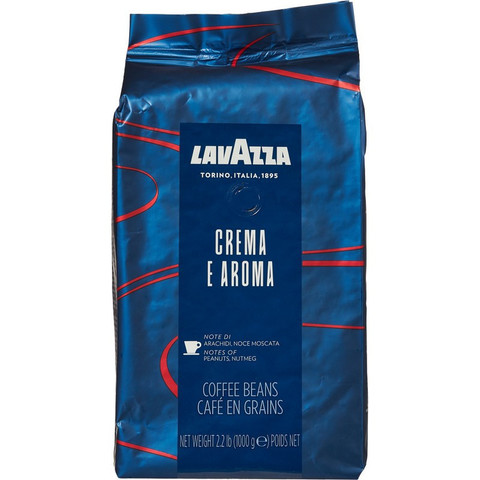 Кофе в зернах Lavazza Crema e Aroma 1 кг (синяя линейка)